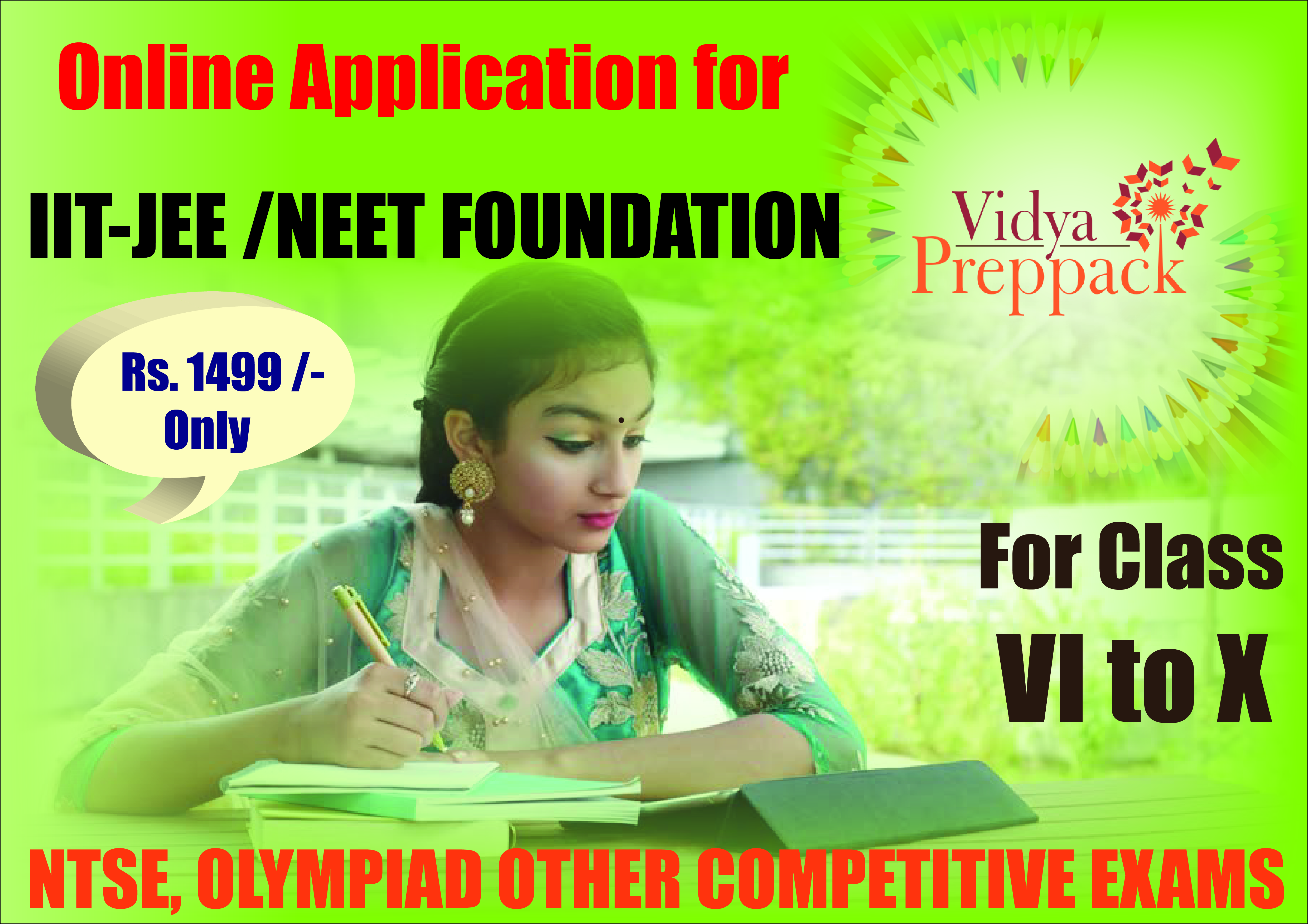 VidyaPreppack For Strong IIT/NEET Foundation For Class 6th to 10th