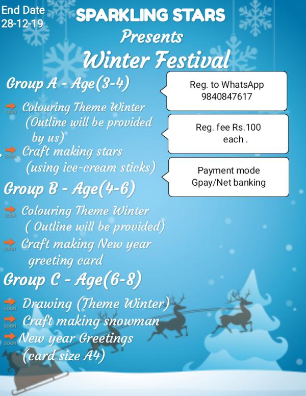 Sparkling Stars Winter Festival Online competition 2019