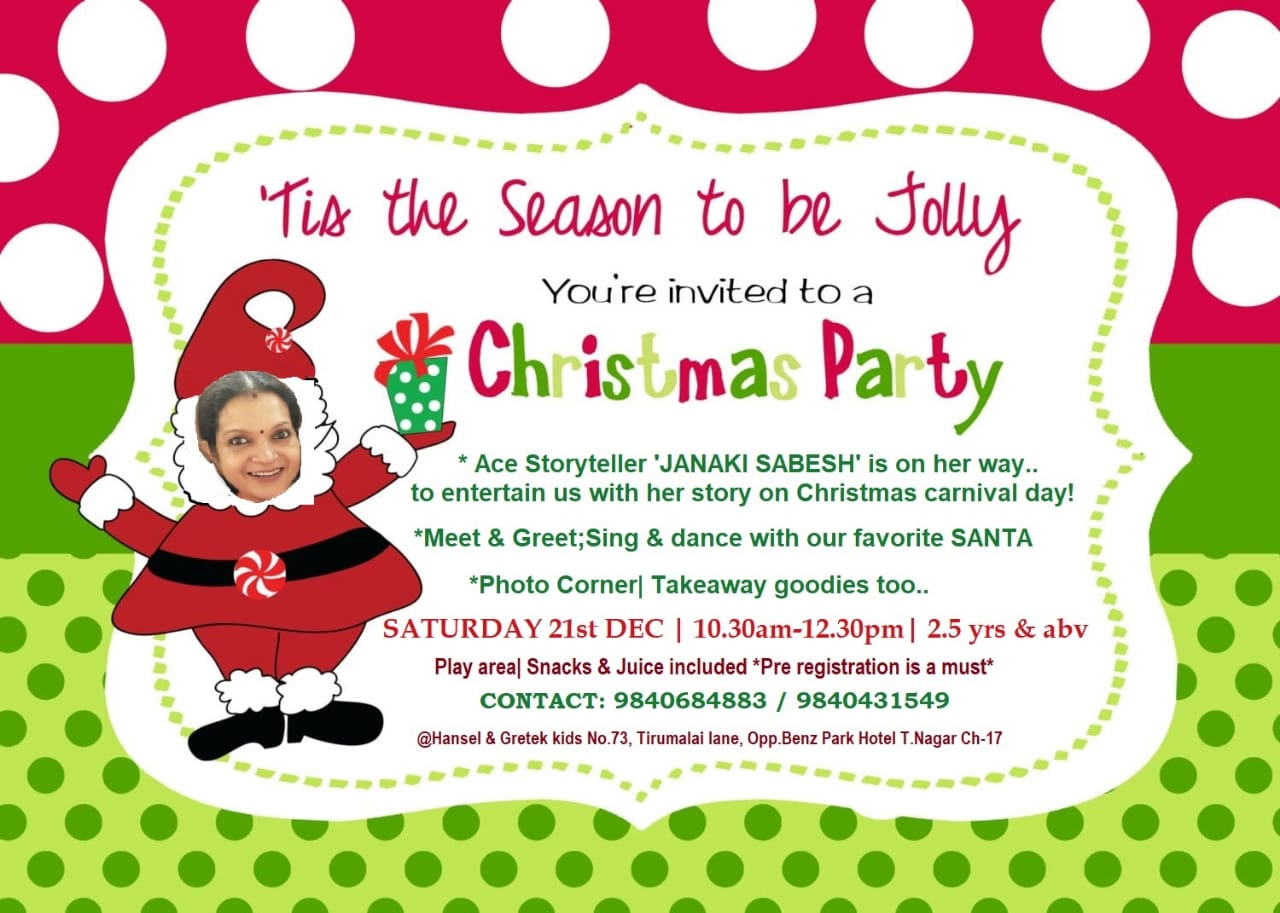 Christmas Party at Hansel and Gretel kids