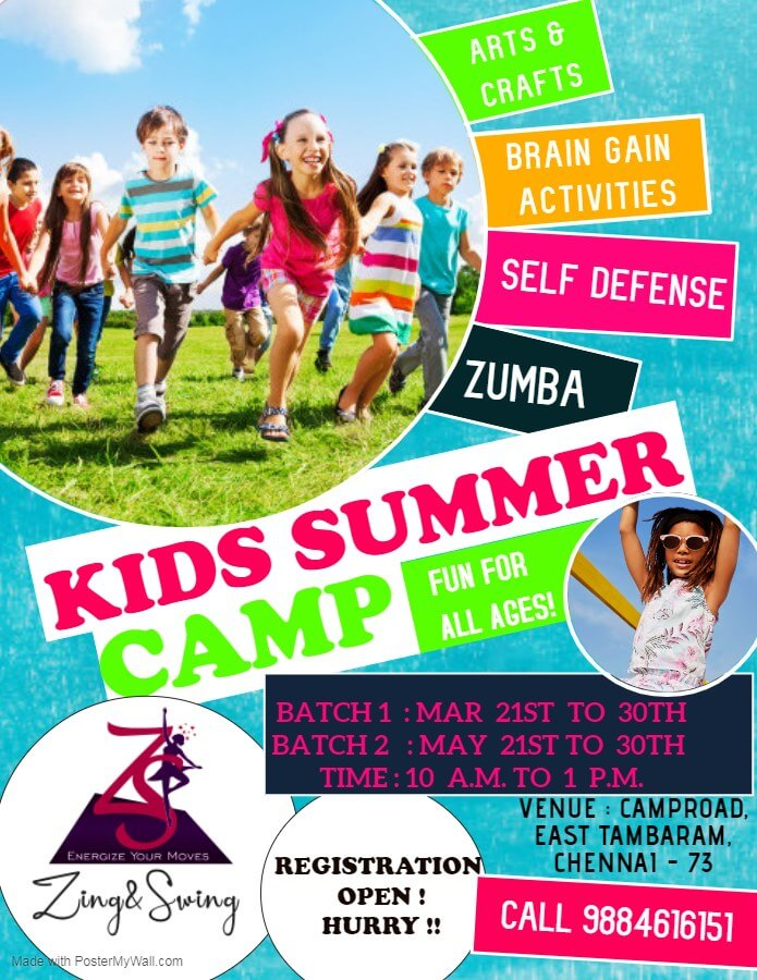 Zing and Swing Kids Summer Camp 2020