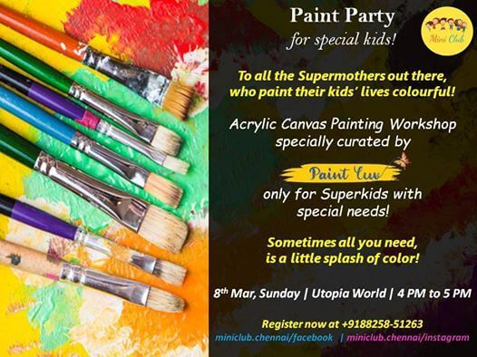 Paint Party For Special Kids