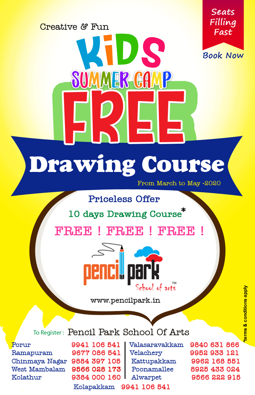 PENCIL PARK DRAWING PAINTING ART CLASSES Art School