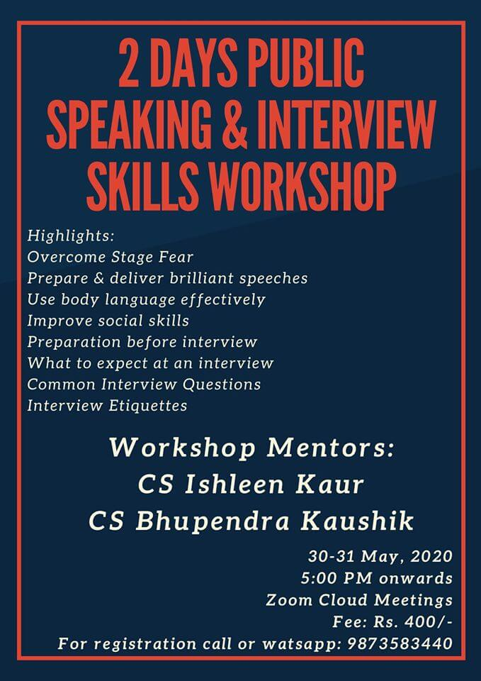 Public Speaking & Interview Skills Workshop