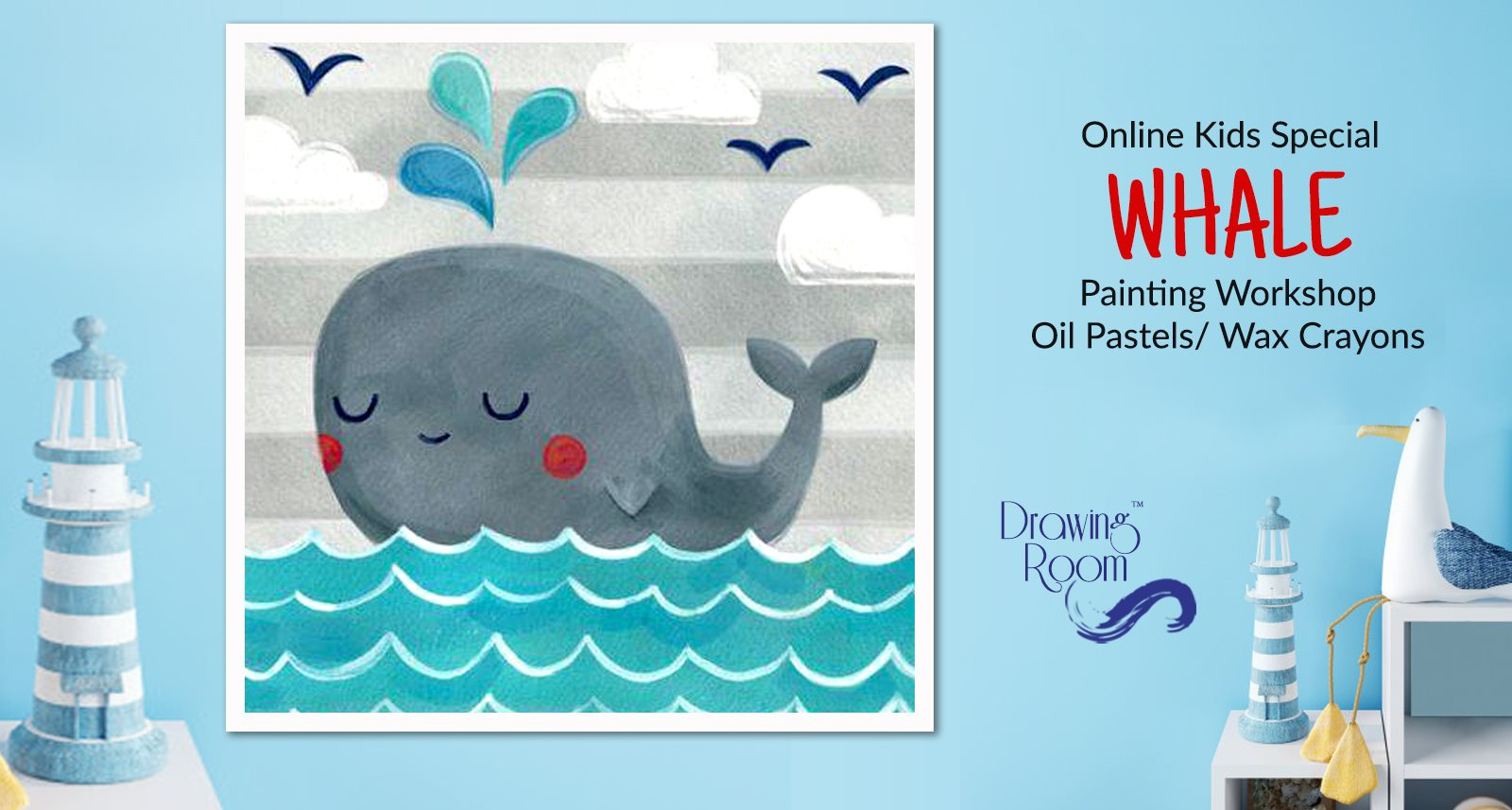 Online Kids Special Whale Painting Workshop