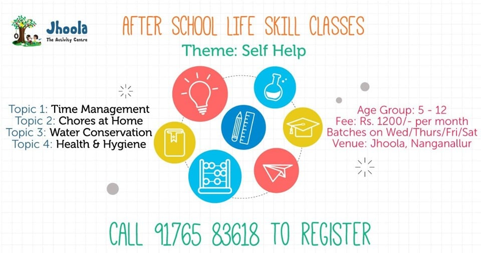 July After School Life Skill Classes
