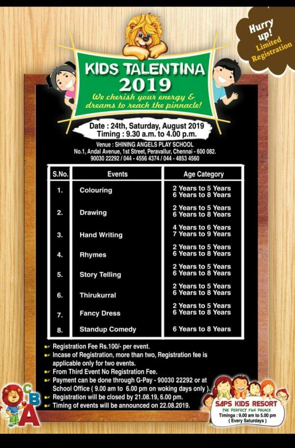 Kids Talentina 2019 Competition