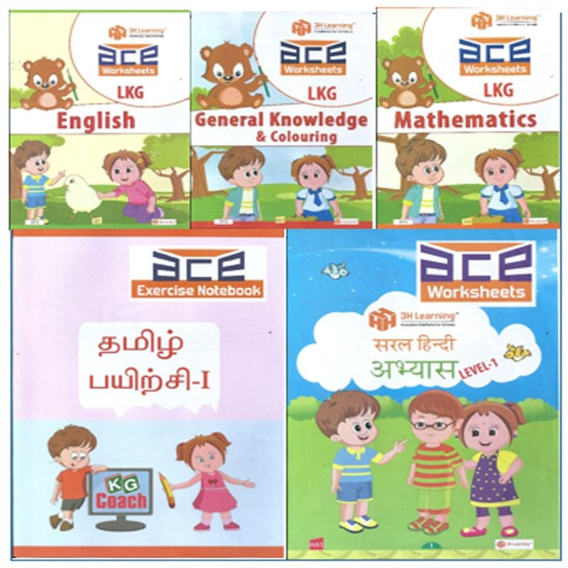 Lkg Worksheet Loose Leaf English Gk Colouring Maths With Hindi And Tamil Schoolconnects