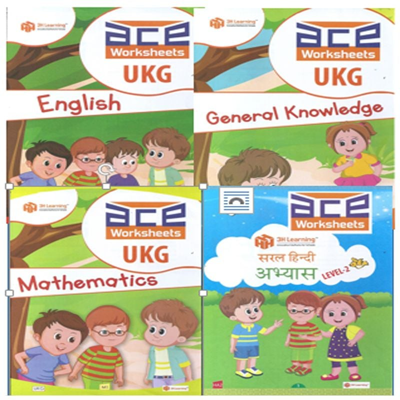 UKG WORKSHEET (LOOSE LEAF)- ENGLISH, GK and COLOURING,MATHS