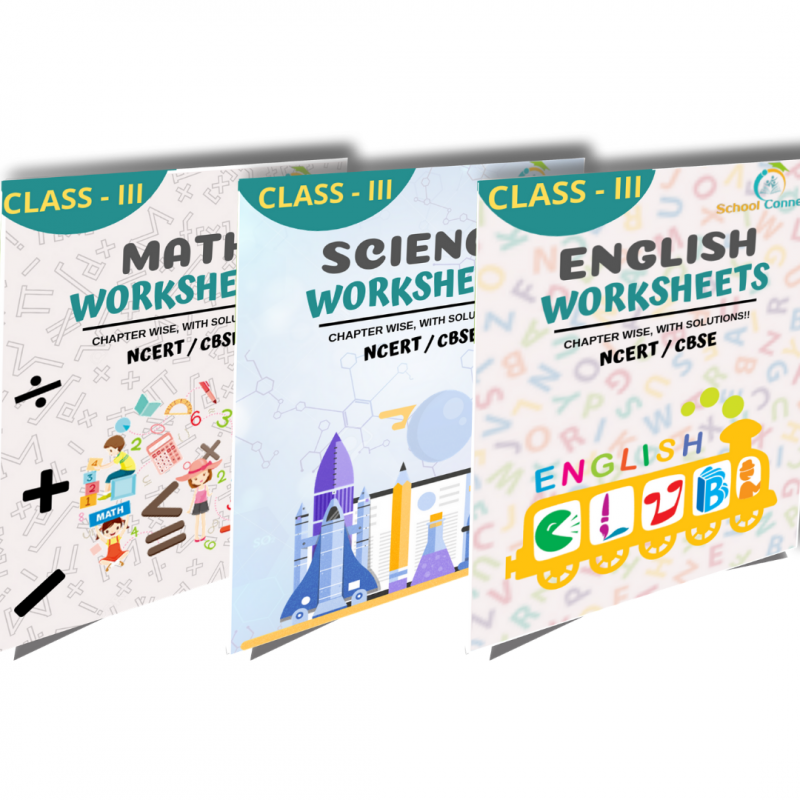 Class 3 - Soft Copy Worksheets(PDF) - English, Maths & Science